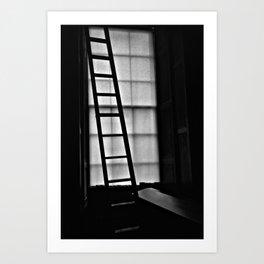 Dark Reading Light Art Print