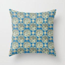 Smooth silver blue grass. Throw Pillow