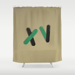 Graphic Poster #15 - XV Shower Curtain