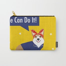Corgi Rosie - Rosie the riveter, dog, dogs, dog costume, cute dog Carry-All Pouch