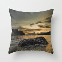monsters Throw Pillows featuring Monsters by HappyMelvin