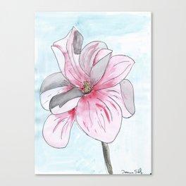 Magnolia Flower watercolor Canvas Print