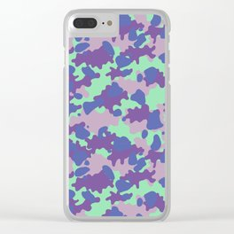 Camouflage Blot Clear iPhone Case