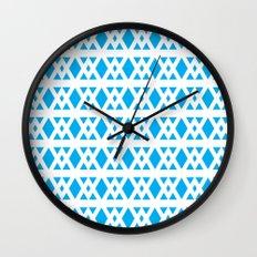 Triangles Pattern (Blue) Wall Clock