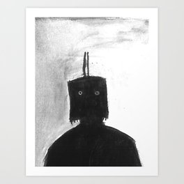 The Box Mask Art Print