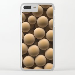 Brown spheres Clear iPhone Case