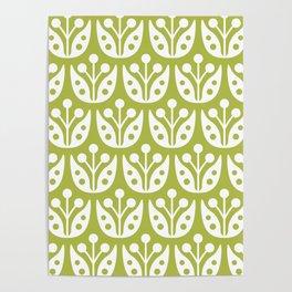 Mid Century Flower Pattern 5 Poster