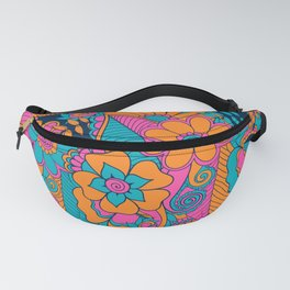 Abstract Floral Pattern Fanny Pack
