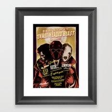 Night of the 3 Headed Beast - Gig Poster Framed Art Print
