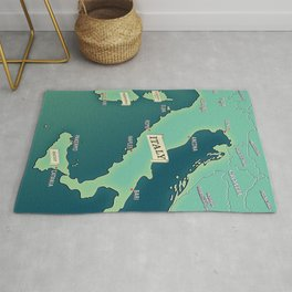 Map Of Italy Rug