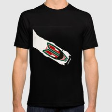 Stratos Mens Fitted Tee LARGE Black