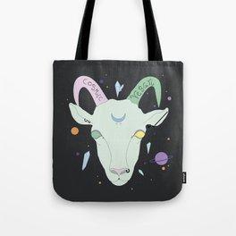 Vegan Cosmic Goat Tote Bag