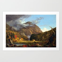Thomas Cole A View of the Mountain Pass Called the Notch of the White Mountains (Crawford Notch) Art Print