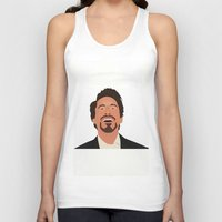 robert downey jr Tank Tops featuring Robert Downey Jr. by Kaylabeaisaflea