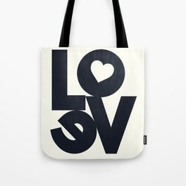 Love, tyopgraphy illustration, gift for her, people in love, be my Valentine, Romantic lettering Tote Bag