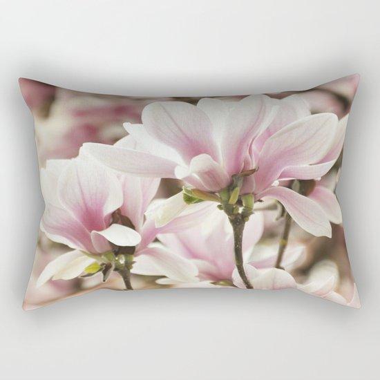 Beautiful Pink Magnolia Rectangular Pillow