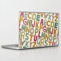 alphabet Laptop & iPad Skins featuring ALPHABET by Matthew T. Wilson