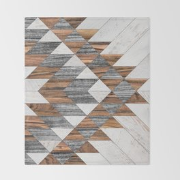 Urban Tribal Pattern No.12 - Aztec - Wood Throw Blanket