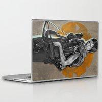 daryl dixon Laptop & iPad Skins featuring Daryl Dixon by Yan Ramirez