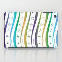 music notes iPad Cases featuring Seamless music notes pattern by ib photography