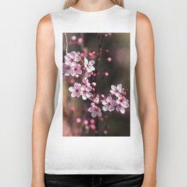 pink blossoms Biker Tank