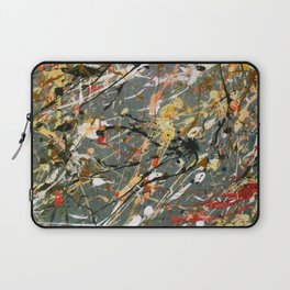 Jackson Pollock Interpretation Acrylics On Canvas Splash Drip Action Painting Laptop Sleeve