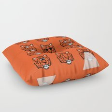 Eyes Of The Tiger Floor Pillow