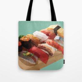 Nigiri Sushi Platter Polygon Art Tote Bag