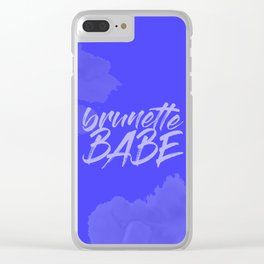 Brunette Babe Clear iPhone Case