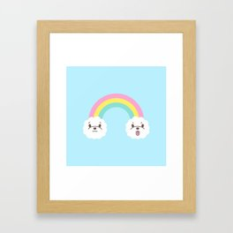 Rainbow Bichon Framed Art Print