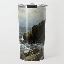 Castle Rock Marblehead 1878 By Alfred Thompson Bricher Travel Mug