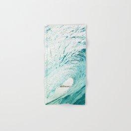 ocean wave curl, coastal print, surf, beach waves, beautiful beac Hand & Bath Towel
