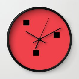 Watermelon in the style of Malevich, version 2 Wall Clock