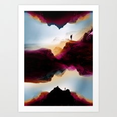 Learning from the past Art Print