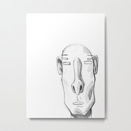 Head sketch 01 Metal Print