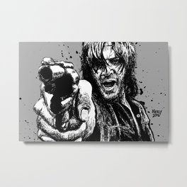 Daryl Dixon, Total Badass. Norman Reedus from The Walking Dead. Metal Print