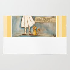 I See the Moon - Poetry print Rug