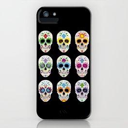 Nine skulls iPhone Case