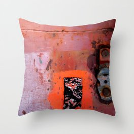 red shades on rust Throw Pillow