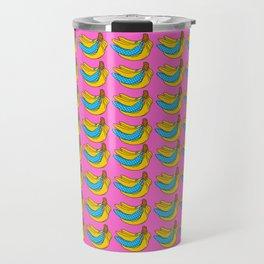 Polka Banana Travel Mug