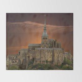 Mont-Saint-Michel Throw Blanket