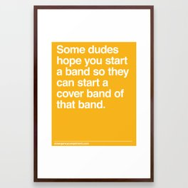 Cover Band Framed Art Print