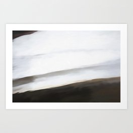 Abstract Black to White Shades.   Like painted on canvas. Art Print