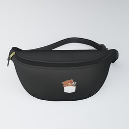 Tired Dog Pocket Tee Puppy Doggie Pet Owner Gift Fanny Pack