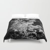 mexico Duvet Covers featuring mexico map by Line Line Lines