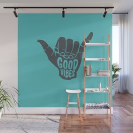 Good Vibes shaka Wall Mural