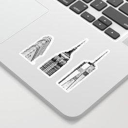 New York City Iconic Buildings-Empire State, Flatiron, One World Trade Sticker
