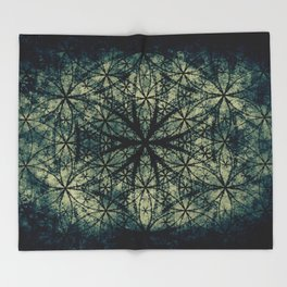 Sacred Geometry for your daily life -  ESOTERIC FLOWER OF LIFE Throw Blanket