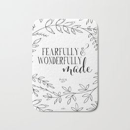 Fearfully and Wonderfully Made Bath Mat