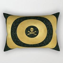 Gold Leaf Target Rectangular Pillow